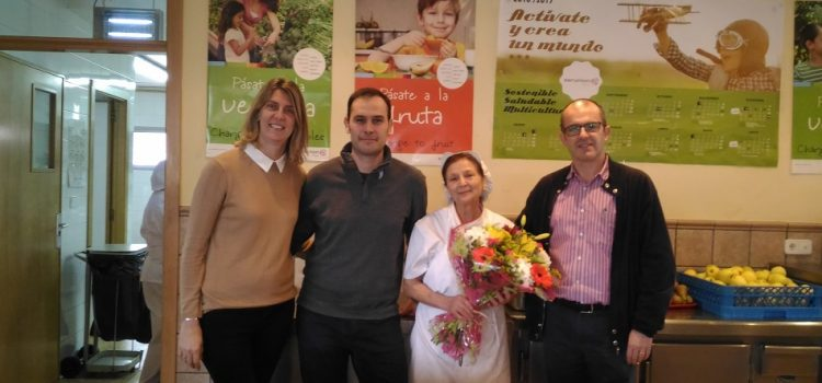 Jubilación de Dª María José Lianez, cocinera del colegio