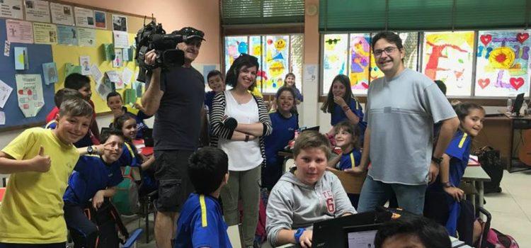 """Los """"Chromebooks"""" y Aragón Noticias entran en el aula."""