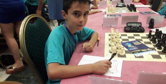 Marcos Moreno en el campeonato de España de Ajedrez de jóvenes.