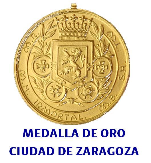 Medalla de oro ciudad de Zaragoza